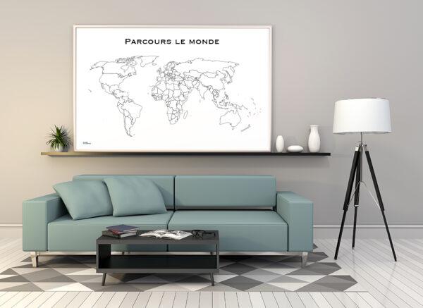 Carte du monde pour souviens