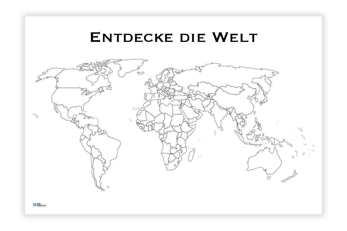Weltkarte Entdecke Die Welt Meine Weltkarte Com