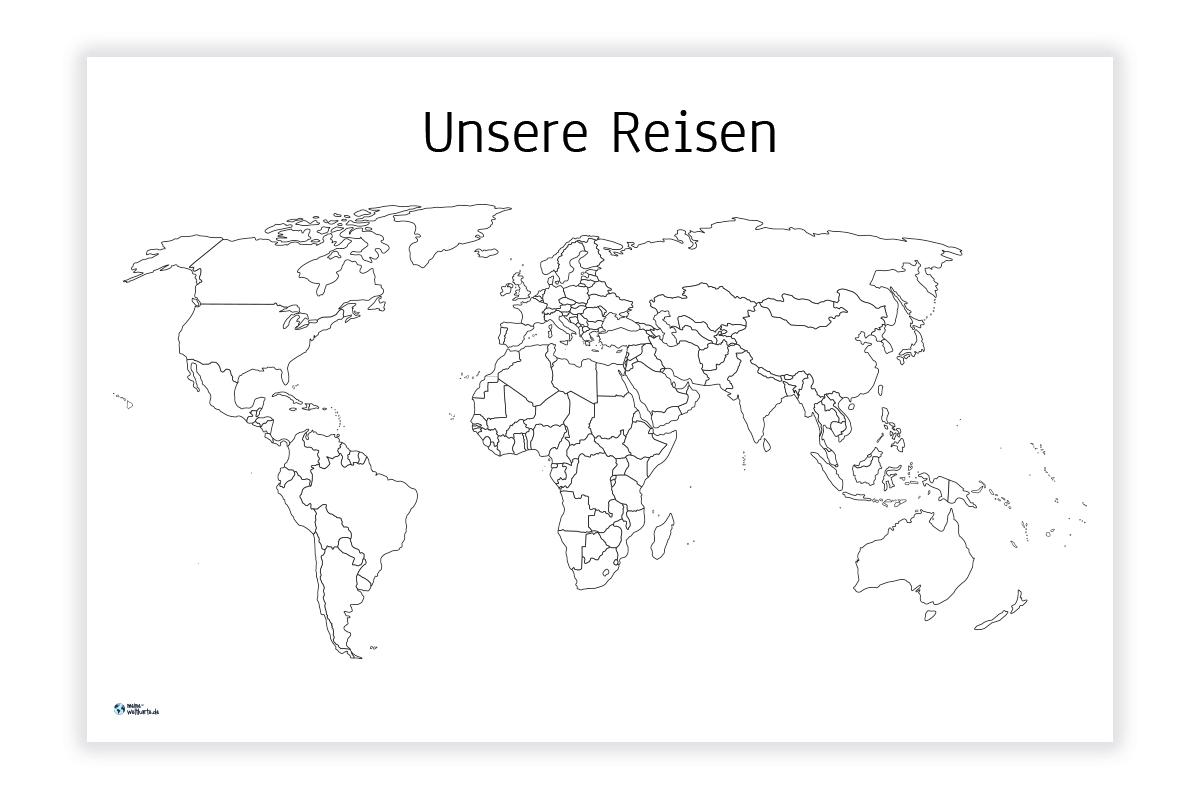 Weltkarte Unsere Reisen Meine Weltkarte Com